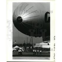 1986 Press Photo Goodyear's blimp the Columbia at Portland airport - orb63557
