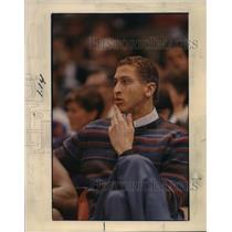 1986 Press Photo Injured Portland Trail Blazer, Sam Bowie - orc15377