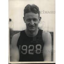 1925 Press Photo Albert H O'Neil captain of Harvard University track team