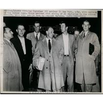 1948 Press Photo Dodgers manager Leo Durocher & some Dodgers in NYC - net09437