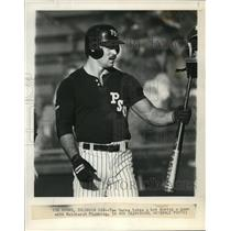 1986 Press Photo Tom Harms who is playing for Columbia I &S this summer.