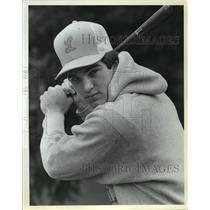 1985 Press Photo Ted Devore- Lakeridge High School Baseball Player - orc15523