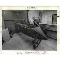 1983 Press Photo Homemade Airplane Flying Machine Dale Duvall Fuselage