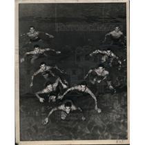 1946 Press Photo North Carolina Dixie swim champs Ben Ward, Bo Jenkins
