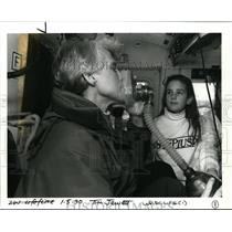 1990 Press Photo Life Flight Helicopter Nurse Jann Churchill & Kara Uffelman