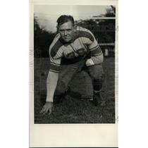 1934 Press Photo Wilbur Gilbert James Millikin football player with 1 arm