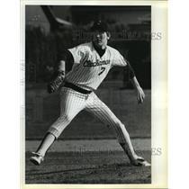 1984 Press Photo Clackamas pitcher Brock Birch - orc14741