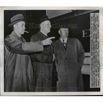 1950 Press Photo Charley Grimm, Dick Burnett & Bob Goff of DallasEagles