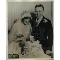 1928 Press Photo Frederick Charles Lindstrom of NY Giants weds Irene Keidaisch
