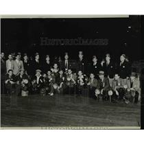 1938 Press Photo News Photographers at Shriners 3-Day Convention, Los Angeles