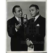 "1947 Press PhotoThe Stroud Twins' Clarence & Claude on CBS' ""Vaughn Monroe Show"""