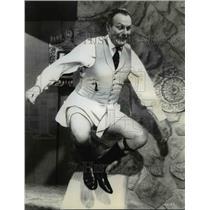 "1962 Press Photo Terry Thomas kick heels in ""Bachelors Flat"" - orp29877"