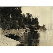 "1926 Press Photo ""West End of Sand Island"", Apostle Islands, Lake Superior"