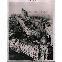 1936 Press Photo Telephone building in Madrid bombed by rebel forces - nera02139