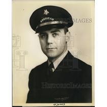 1937 Press Photo American Airlines Pilot Walter N. Pharr - ney12111