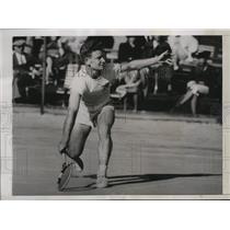 1939 Press Photo Junior Davis Cup tennis player Charles Rider plays at Pinehurst