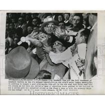 1955 Press Photo Fans at the debut of the Kansas City Athletics baseball team