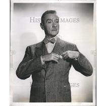 1953 Press Photo Clifton Webb Actor dancer singer