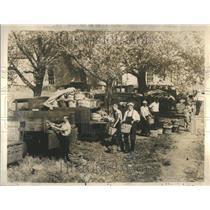 1934 Press Photo Truck Strike Farmer Market Produce - RRR25863