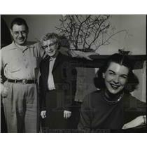 1956 Press Photo Betty Zollinger, Broadway Young Star home in Oregon for a visit