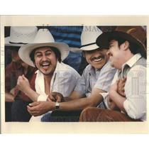 1992 Press Photo Mexican Cowboys Rodeo Chicago
