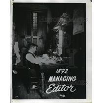 1892 Press Photo 1892 WTMJ Managing Editor  - mjx06832