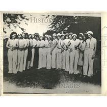 1936 Press Photo Outaera Predate dancers Rail  Munour N