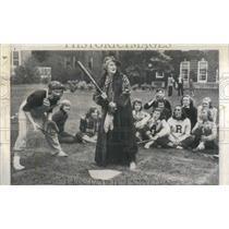 1951 Press Photo Faculty/Student Baseball Cabot Hall - RRR42709