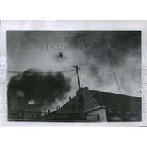 1955 Press Photo Rebel plane bombed the government house in Buenos Aires