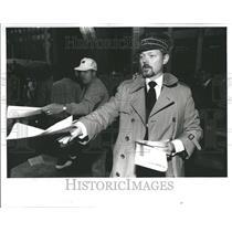 1991 Press Photo Northwestern Atrium Center Strike