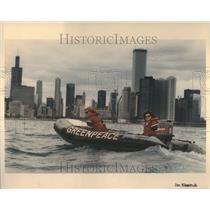1991 Press Photo Greenpeace Great Lakes Tour Nautalus