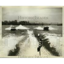 1930 Press Photo Dodge 21-Foot Motor Boats in Hudson River Race - ney15842