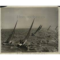 1930 Press Photo Winter Sailing Championship Boat Race - ney15892