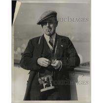 1923 Press Photo British Racecar Driver Earl Howe at Roosevelt Raceway