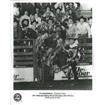 1997 Press Photo Ty Hickerson Bull Riding Champion IPRA - RRR44971