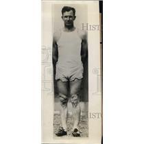 1929 Press Photo CJ Cliff Gallagher track coach University of Wichita