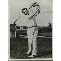 1932 Press Photo Olin Dutra at National golf at Keller course in St Paul MN
