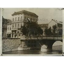 1929 Press Photo The Bridge of Death over Miljacka River, Sarajevo - mjx09715