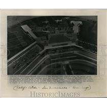 1954 Press Photo Aerial photo of San Francisco's International Airport