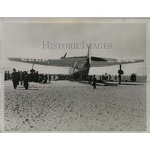 1937 Press Photo Douglas Flying Boat Before Test Fight in Santa Monica