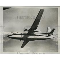 1958 Press Photo Fairchild Airplane Corporation Commercial Plane F-27