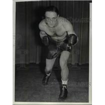 1937 Press Photo Boxer Eddie Morgan - cvb59013