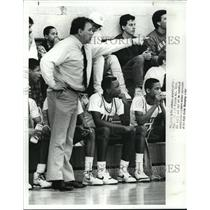 1989 Press Photo Bob Wonson, Head Coach of Cleveland heights Basketball