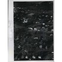 1972 Press Photo Aerial view of Watersmeet, Michigan - mja04281