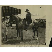1930 Press Photo Mrs Rose Loughrey aboard her horse - mja16273