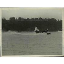 1929 Press Photo Lt.Alfred J, Williams,Mercury Racer win the Scheider Cup Races