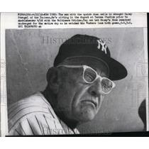 1959 Press Photo NY Yankee manager Casey Stengel at game vs Orioles - net03118