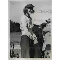 1938 Press Photo Alice Rutherford at Aiken Invitation golf in South Carolina