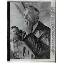 1958 Press Photo Pennant winning Yankees manager Casey Stengel at practice