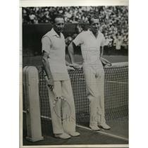 1932 Press Photo Jean Borota beats Wilmer Allison in Davis Cup tennis match